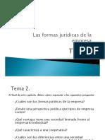 Tema 2 Las Formas Jurídicas de La Empresa