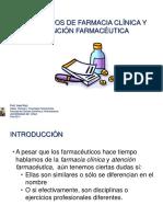 Conceptos de Farmacia Clinica y Atencion Farmaceutica