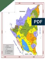 Mapa de Cuencas Hidrograficas de Nicaragua