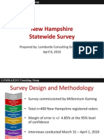 Millennium Final NH Statewide Survey Results--April 8 2010