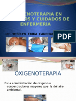 Oxigenoterapia en Neonatos y Cuidados de Enfermeria 2015
