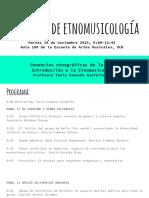Simposio de etnomusicología-Programa-24 nov 9 AM