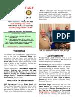 Moraga Rotary Newsletter Jan 12, 2016
