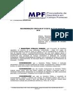 Recomendacao MPF Jornadas Pedagógicas