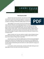 Legal Pulse Newsletter 3Q 2015