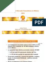 Panorama Mercado Fototvoltaico en México 2015 a 2016