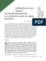 Velhice e Analfabetismo Rural