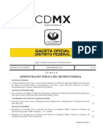 Estudio Factibilidad Autobuses Ciudad de Mexico Gaceta Oficial