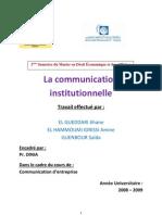 La Communication Institutionnelle