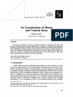 An Examination of Blujme and Vasicek Betas