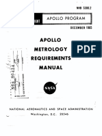 NASA NHB 5300.2 Apollo Metrology Requirements Manual