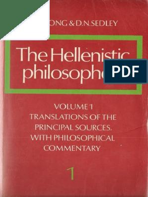 Epicurea A Long D N Sedley The Hellenistic