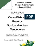 Elaboração de Projetos Socioambientais