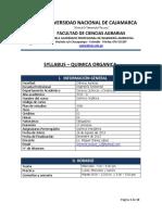 Syllabus Iic- Quimica Organica