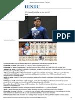 Mahendra Singh Dhoni_ a Timeline - The Hindu