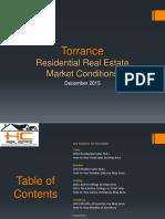 Torrance Real Estate Market Conditions - December 2015