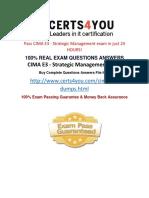 How to pass cima e3 exam?