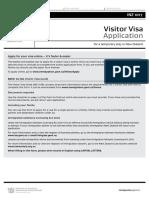 5. Visitor Visa Application Form