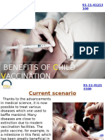 Benefits of Child Vaccination Program in India