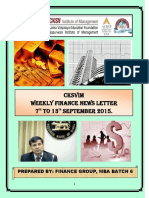 4. Weekly Finance News Letter (7 - 13 Sept 15)