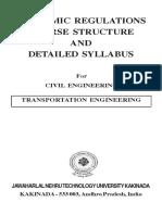 transportation engineering syllabus