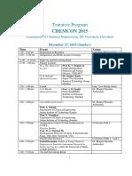 Chemcon 2015 Program