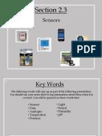 Section 2.3 - Sensors