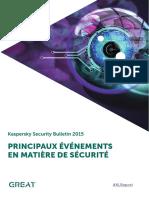 Security bulletin Principaux Evenements Securite