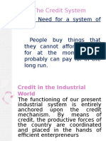 The Credit System