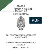 Examen Mental Psiquiatria