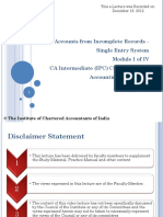Statement of Affairs