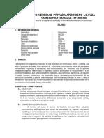 silabo bioquimica ENFERMERIA