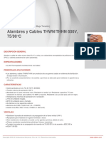 VIAKON- Hoja Técnica de Alambres y Cables THWN-THHN 90C 600V