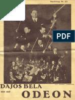 1932-07 - Odeon Juli 1932 Nachtrag Nr. 22
