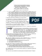 Lista Extra de Exercícios Sobre Dilatação Térmica
