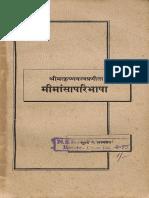 Mimansa Paribhasha 1950 - Nirnaya Sagar Press