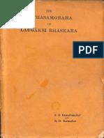 The Arthasamgraha Of Sri Laugakshi Bhaskara 1934  - A.B. Gajendra Gadkar.pdf