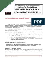 2014 Informes Pastoral y Economico (1)