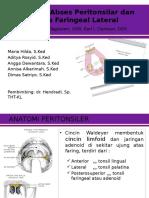 Print PPT Tonsilitis, Abses Peritonsiler Dan Faring Lateral