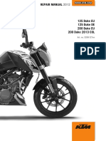 2012 Duke 125-200 Repair Manual