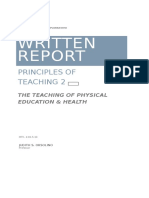 Written Report-principles of Teaching