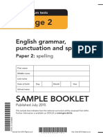 Ks2 English 2016 Sample Grammar Punctuation Spelling Paper 2 Spelling (1)