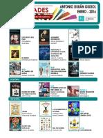 Novedades incorporadas a las Bibliotecas municipales de Huesca en el mes de enero de 2016