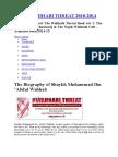The Wahhabi Threat 2010
