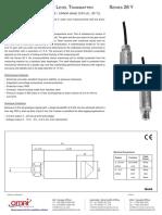 Sensor Presión Keller Pa26y_3852