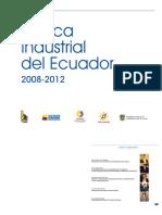Politica Industrial Del Ecuador 2008-2012(1)