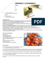 Recetas de Verduras y Legumbres