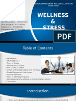 Wellness & Stress