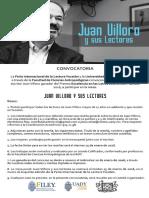 Juan Villoro y sus Lectores (15 Ene)