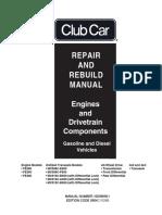 Club Car Engine Drivetrain Repair Rebuild
